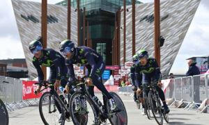 Giro starts at Titanic Centre, Belfast